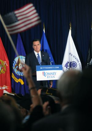 Presidential Candidate Governor Mitt Romney Campaigns in Virginia
